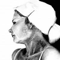 portret, szkic ołówkiem, rysunek z modelem, kurs rysunku kubatura