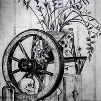 szkic ołówkiem, martwa natura, kurs rysunku kubatura, kurs architektoniczny, kurs rysunku kraków i wieliczka