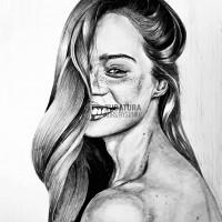 portret, rysunek ołówkiem, rysunek z modelem, kurs rysunku kraków, kurs rysunku wieliczka