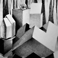 szkic ołówkiem, perspektywa, martwa natura, kurs rysunku kubatura