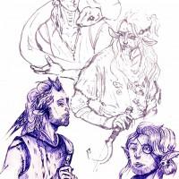 rysunek długopisem, rysunek z wyobraźni, kurs plastyczny, kurs rysunku kubatura, kurs rysunku wieliczka, projekt postaci