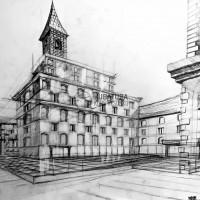 rysunek architektoniczny, perspektywa, rysunek ołówkiem, konstrukcja, kurs rysunku architektonicznego, kurs rysunku wieliczka, kurs rysunku kraków