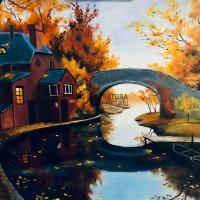 pejzaż, malarstwo, obraz malowany farbami, przygotowanie na studia, teczka ASP, kurs rysunku kubatura