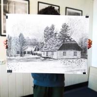 rysunek architektoniczny, rysunek ołówkiem, rysunek chaty, kurs rysunku kraków, kurs rysunku wieliczka