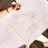 rysunek w plenerze, rysunek architektoniczny, szkic, rysunek ołówkiem, perspektywa, kurs rysunku kraków, kurs rysunku wieliczka